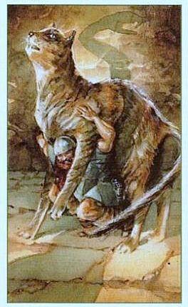 Тор, поднимающий кота в Ётунхейме